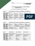 Calendário PROVAS