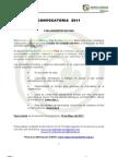 Convocatoria RAA PERU 2011