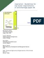 Crop Evapotranpiration-FAO Technical Paper 56