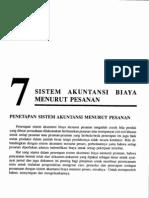 Bab7-Sistem Akuntansi Biaya Menurut Pesanan