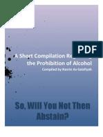 A Short Compilation Regarding Prohibit On of Alcohol
