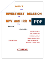 Project  on investment decision