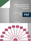 Complicaciones de Anestesicos Locales