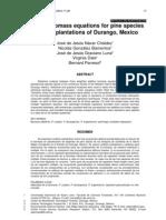 NAVAR JOSE 2004 Additive Biomass Equations for Pine Species DURANGO