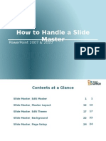 How to Handle a Slide Master