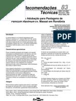 Calagem e Adubação de Pastagens de Panicum maximum cv. Massai