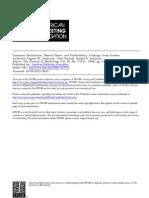 Customer satisfaction, market Share and Profitability
