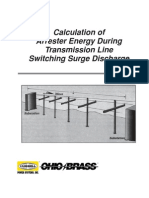 Calculation of Arrester Energy During Transmission Line Switching Surge Discharge