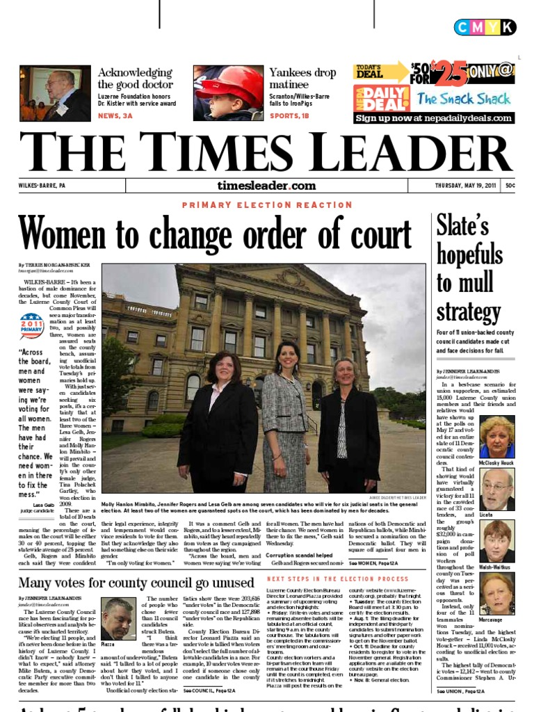 Times Leader 05-19-2011 | Wilkes Barre | Luzerne County