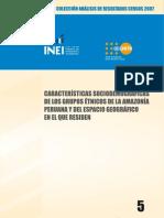 INEI Características Sociodemográficas de los Grupos Étnicos de la Amazonía Peruana