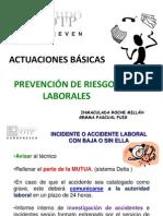 Europreven - Actuaciones básicas prevención de laborales - 17 de mayo de 2011