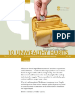 10 Unwealthy Habits