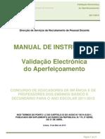 Manual de Instruções da Validação do Aperfeiçoamento da candidatura -  Contratação e DCE; 2011.mai.19