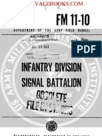 1961 US Army Vietnam War Infantry Division Signal Battalion 82p