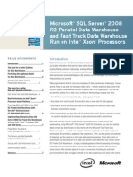 Microsoft® SQL Server® 2008 R2 Parallel Data Warehouse and Fast Track Data Warehouse