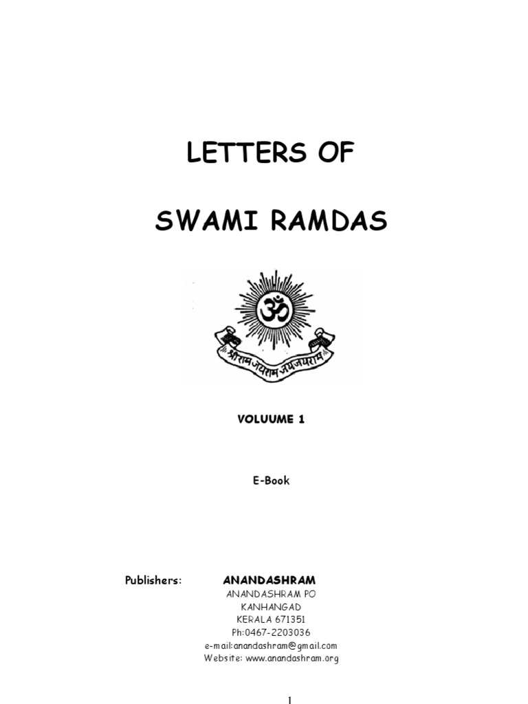 Letters of swami ramdas volume i hindu philosophical concepts theism fandeluxe Image collections