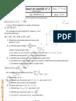 Devoir de contrôle N°3 - Maths - 3ème Sc exp (2009-2010) Mr MEDDEB Tarak