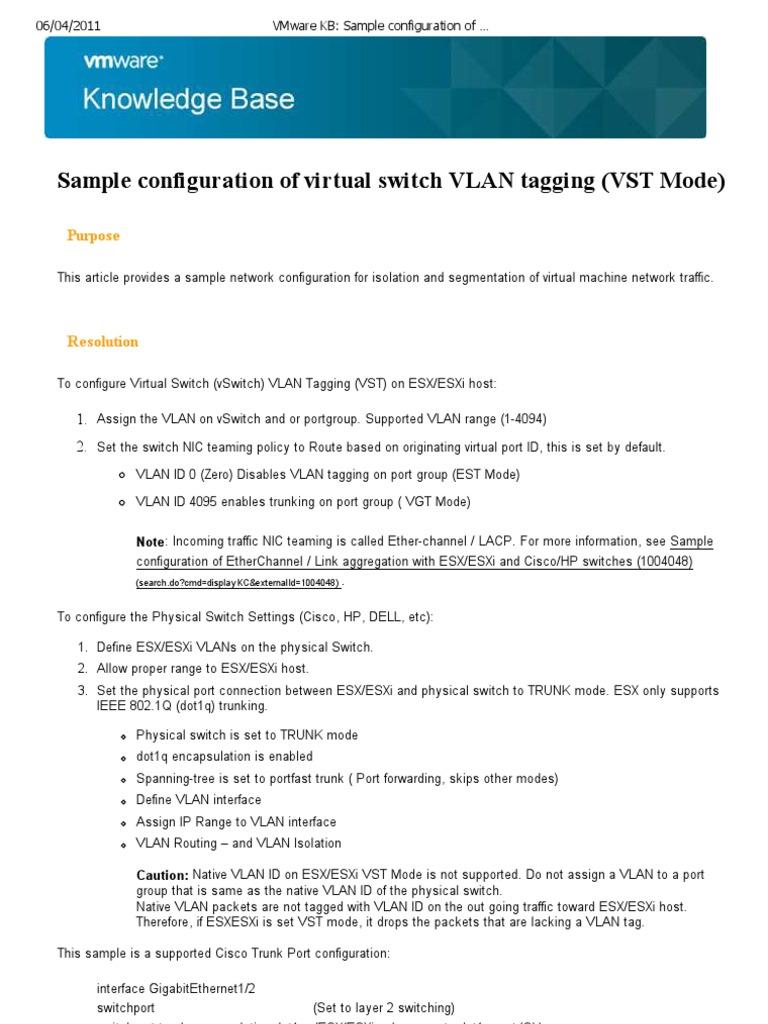 VMware KB_ Sample Configuration of Virtual Switch VLAN Tagging (VST