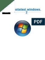 makalah teknik Instalasi Windows 7