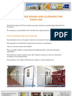 Polyethilene Doors and Closings for Food Use