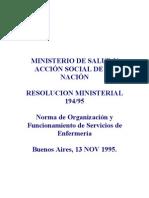 Normas de Org. y Funciona. de Serv. de Enf.