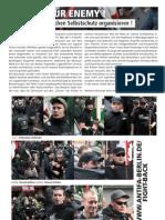 Nazi Angreifer bei Aufmarsch in Kreuzberg
