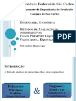 EngEco_Aula4_ValorPresenteLíquido_CAE