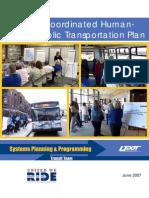 Utah's Coordinated Human Services Transportation Plan