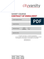 Short Course Enrolment Form