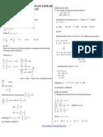 4. Soal-Soal Persamaan Linear Dan Kuadrat