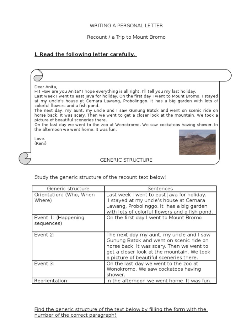 Writing a personal letter recount grammar stopboris Images
