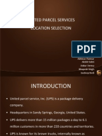 UPS Location Selection