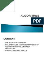 Wk 5 Algorithms