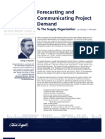 Forecasting and Communicating Project Demand to the Supply Organization