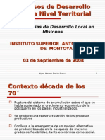Procesos de Desarrollo Local a nivel Territorial