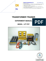 3. Lft-tet, Transformer Trainer Exp Manual, 9082b, Imtac