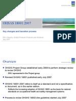 OHSAS 18001 Key Changes PPT