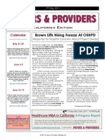 Payers & Providers California Edition – Issue of May 19, 2011