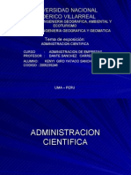 administracion cientifica