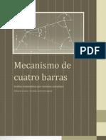 Mecanismo de Cuatro Barras. Análisis matemático por números complejos de posición, velocidad y aceleración angulares.