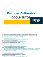 Enlaces Documentos Politica Cultural
