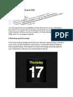 Create a Calendar With Pure CSS3
