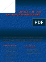 Methods, Techniques or Tools for Appraising Performance