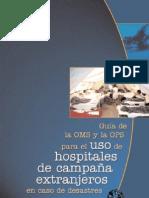 Guía de la OMS y la OPS para Hospitales de Campaña
