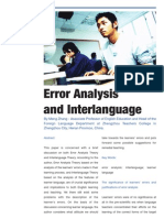 Error Analysis and Inter Language