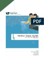 Oracle 10g SQL Handout v1.0
