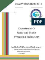 B.tech Textiles Placement Brochure 2010-11
