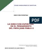 LA DIRECCIÓN ESPIRITUAL EN EL PENSAMIENTO DE JUAN PABLO II