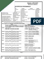 Prestige APS25HT Manual de Instalación