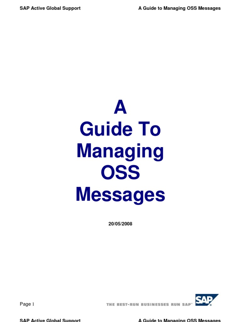 A guide to managing oss messages 20 05 2008 incident management a guide to managing oss messages 20 05 2008 incident management databases publicscrutiny Choice Image